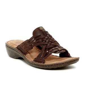 UGG Keala Woven Leather Sandals Brown Size 6 NEW